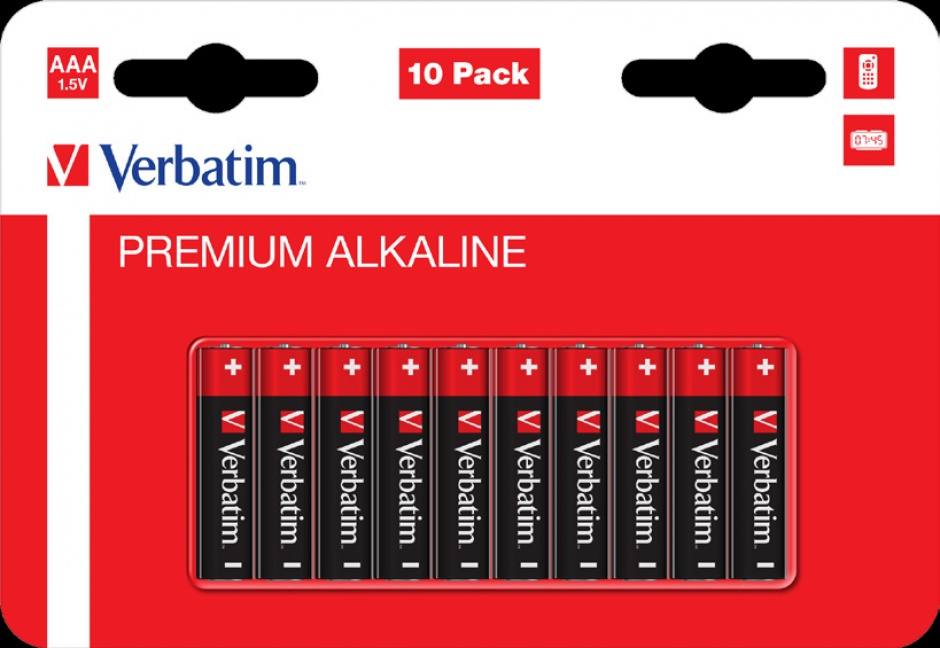 Imagine Set 10 baterii AAA LR3 alcaline, Verbatim 49874